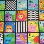 Alphabet colorful quilted w..