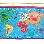 World Map Quilted Wall Han..