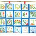 ABC blue green quilted alph..
