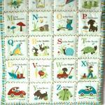 Alphabet Boys Blue Quilted ..