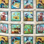 Pirate Treasure quilted wal..