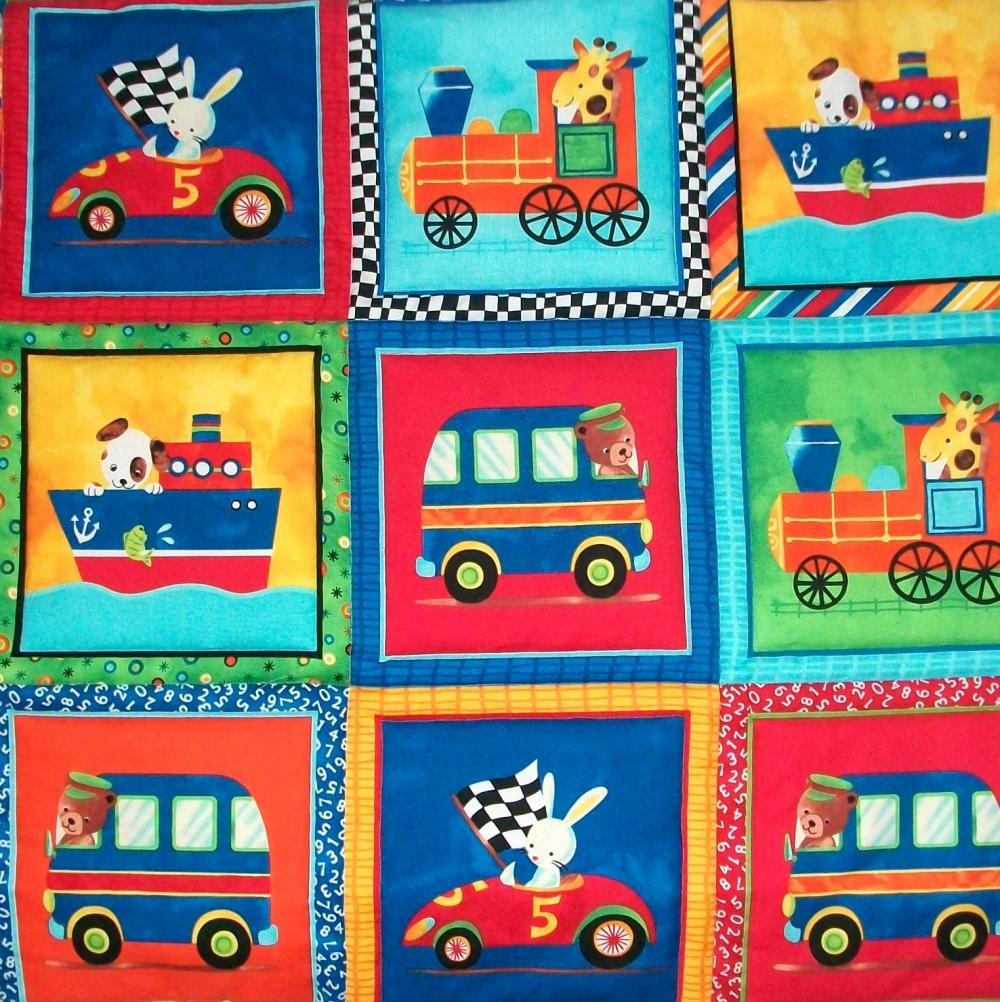 Car, Train, Bus, Boat Transport wall hanging/ playmat