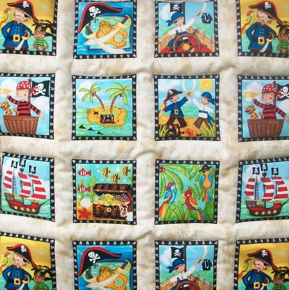 Pirate Treasure quilted wall hanging
