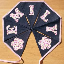 Personalised Bunting Name Banner Girls flowers