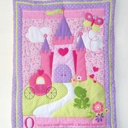 Princess Fairy Castle Quilted Wall Hanging